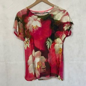 Ted baker London floral rose tee 4